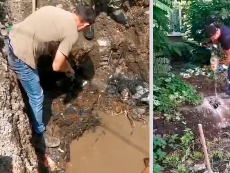 Один из самых проблемных участков дождевых сетей начали ремонтировать